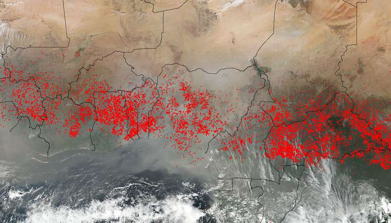 NASA covers wildfires from many sources