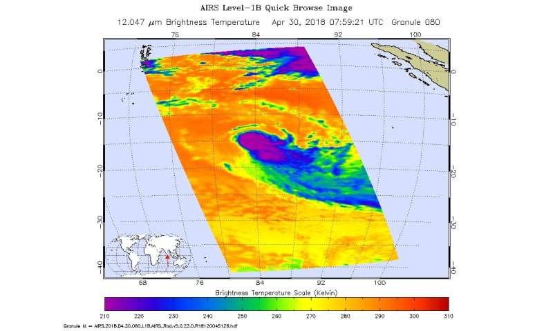 NASA finds wind shear affecting Tropical Cyclone Flamboyan