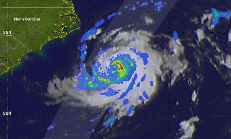 NASA's GPM satellite examined Tropical Storm Chris' power