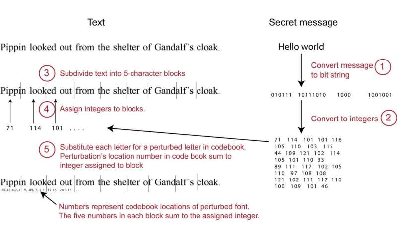 Researchers hide information in plain text