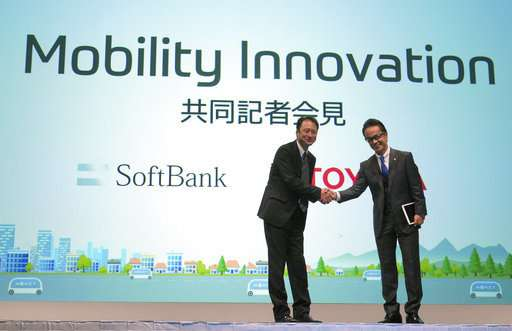 Toyota, SoftBank setting up mobility services joint venture