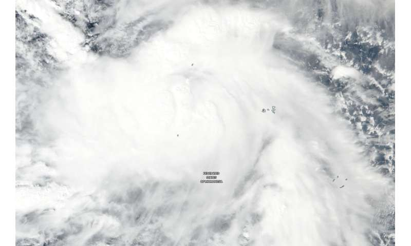 NASA sees Tropical Storm Man-yi approaching typhoon strength Tropical Storm Man-Yi con