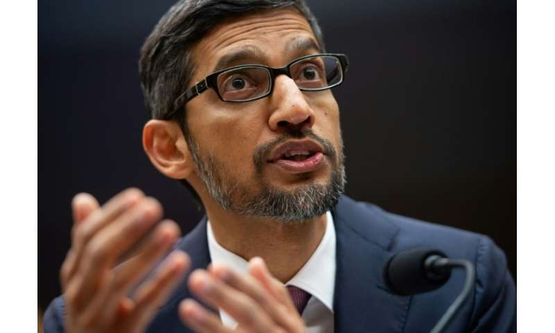 """Google CEO Sundar Pichai, testifying at a House Judiciary Committee hearing, said there is no """"political bias"""" in its"""