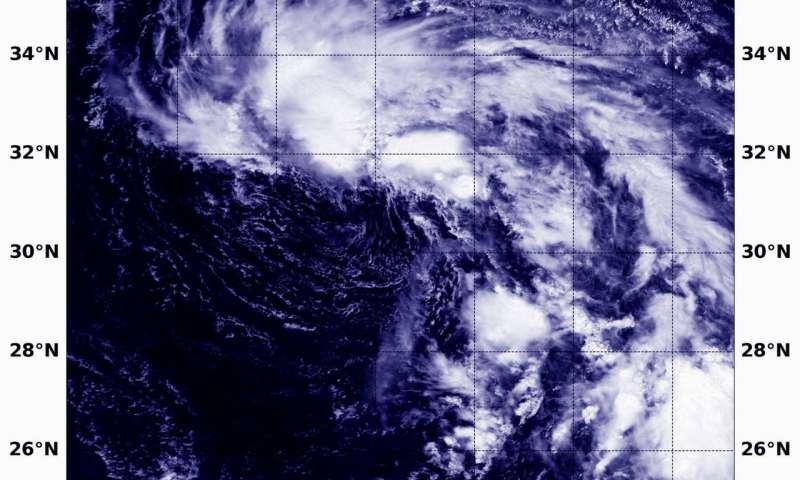 NASA finds wind shear battering Tropical Depression 16W