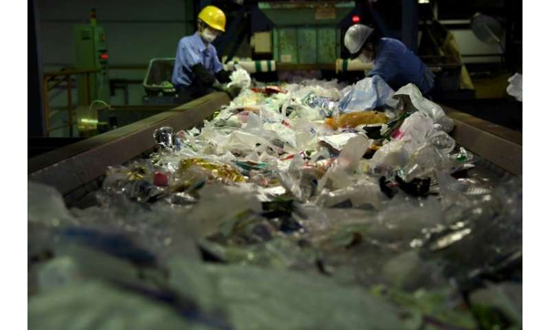 Plastic waste has been piling up in Japan since China's new policy came into force