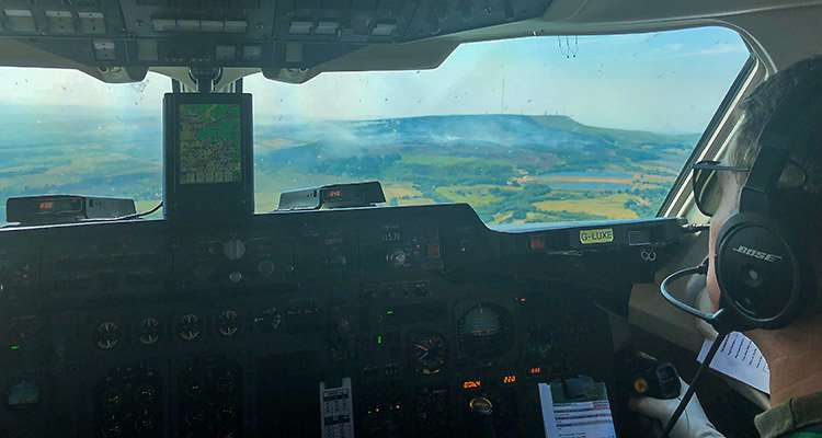 Scientists take to the skies to measure emissions from Yorkshire moor fires