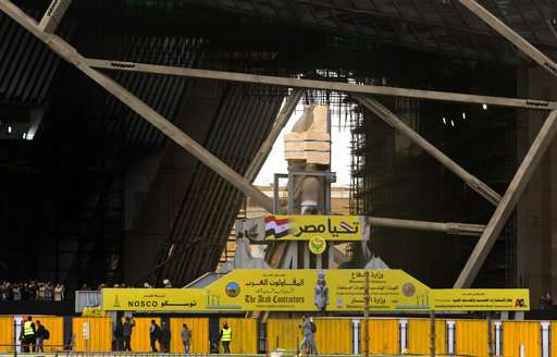 Egypt places the Colossus of Ramses II at the entrance of the new museum