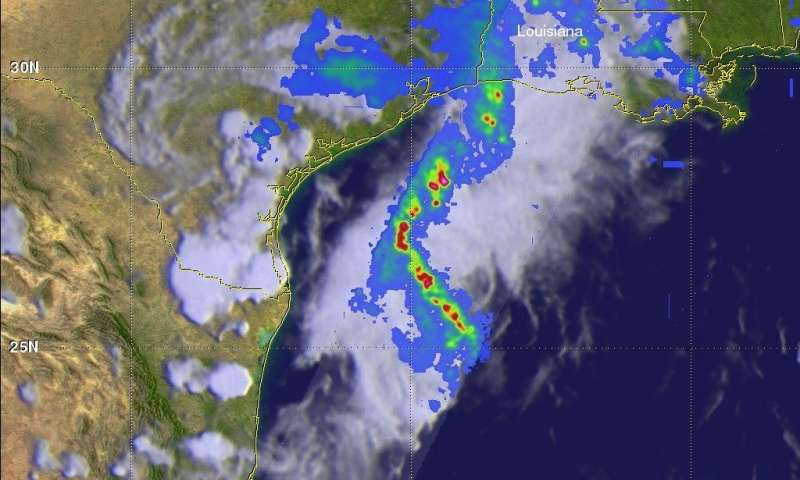 GPM satellite probes soaking storms in Southern Texas and ... on