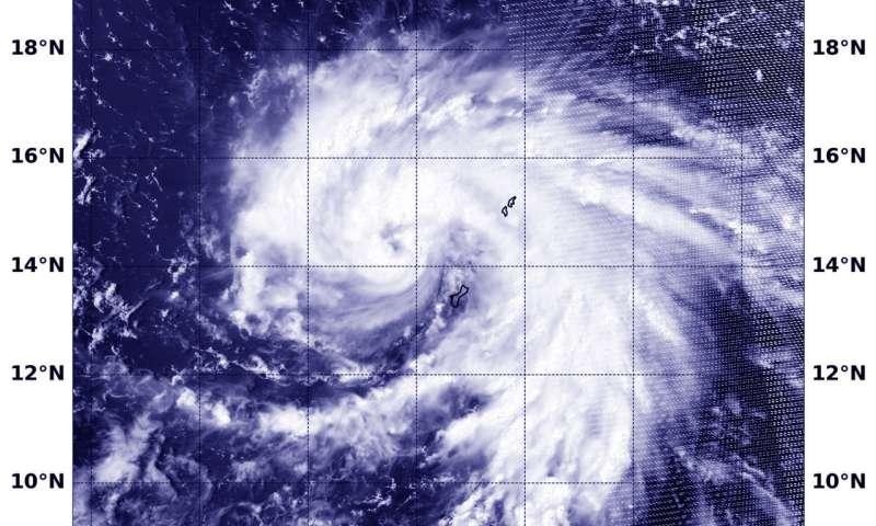 NASA-NOAA's Suomi NPP sees Typhoon Maria affecting Guam
