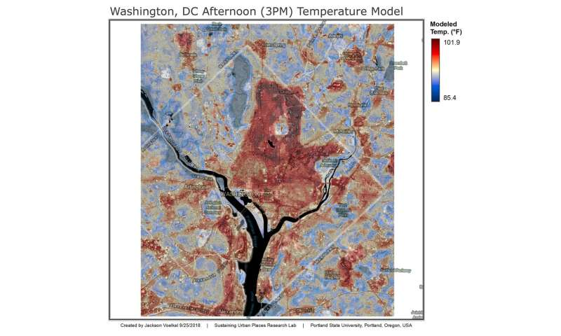 Study shows White House, Pentagon are literally some of the hottest spots in Washington