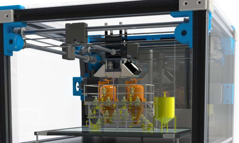A small chemical reactor made via 3-D printing allows for making drugs on-demand