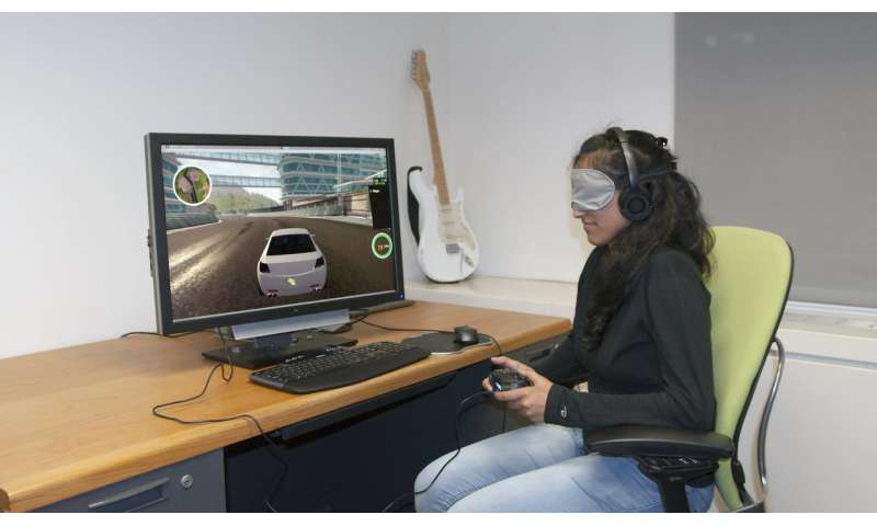 For blind gamers, equal access to racing video games