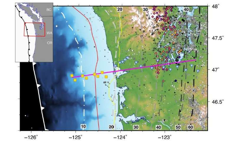 New study sheds some light on the low-viscosity layer in the Cascadia subduction zone