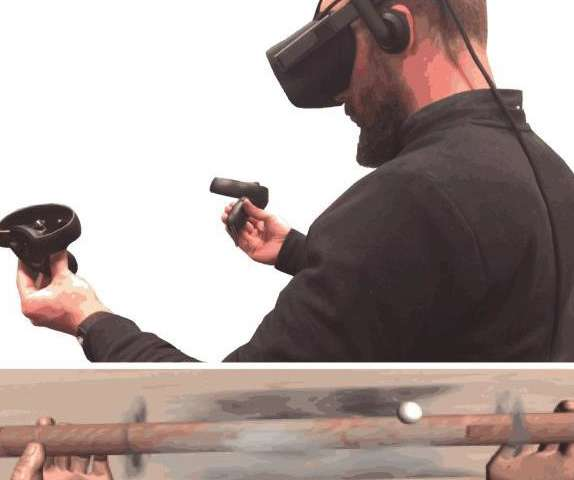 To be fully immersive, sources of haptic stimulation in VR apps need to be shown, researchers find