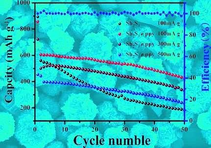 Flowerlike nanostructures in sodium batteries