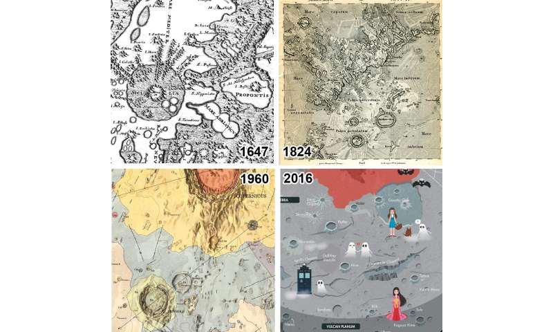 Catalogue of planetary maps, past and present, highlights the evolving view of the solar system