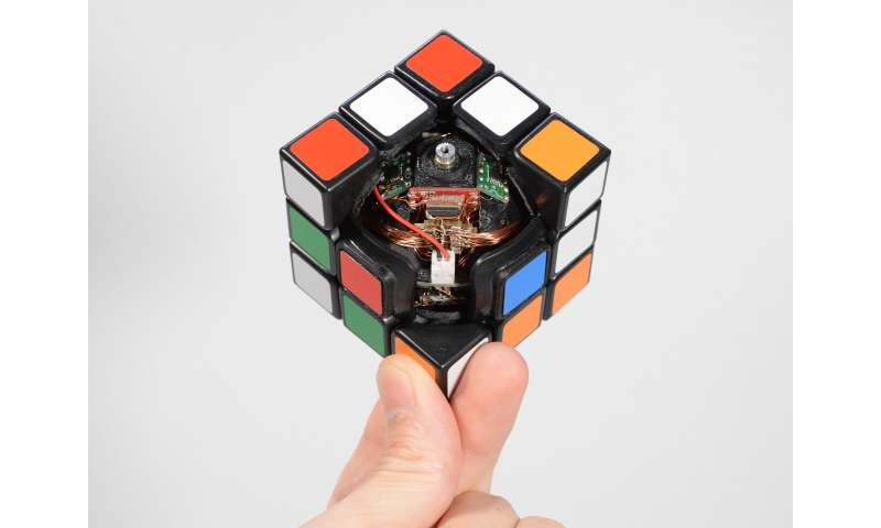 Ever struggle with a Rubik's Cube? Someone has created one that will solve itself