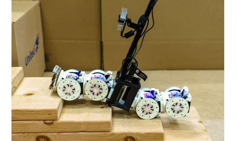 Shape-shifting modular robot is more than the sum of its parts