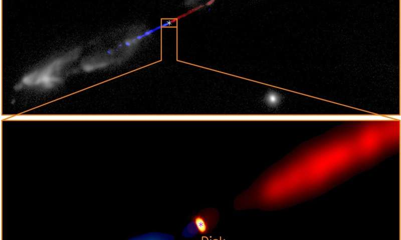 **Magnetic fields found in a jet from a baby star