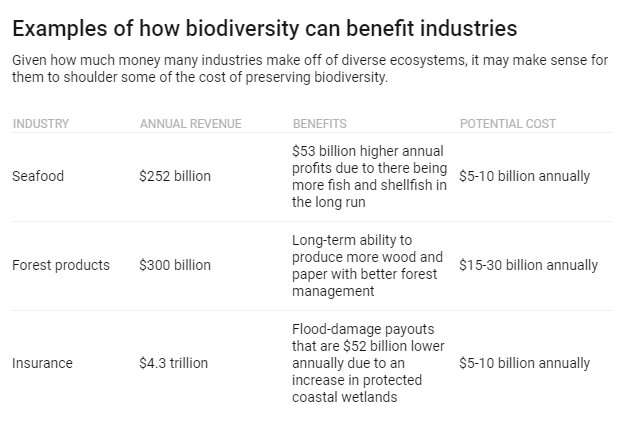 Why companies should help pay for the biodiversity that's good for their bottom line