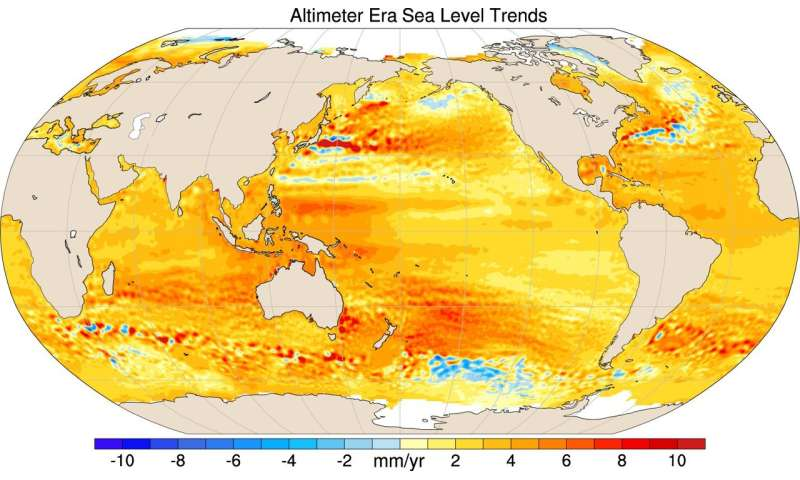 Uneven rates of sea level rise tied to climate change