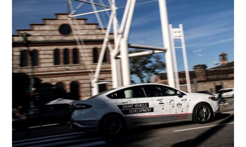 5G should facilitate the adoption of self-driving cars, like this one being tested in the northern Italian city of Turin in Nove