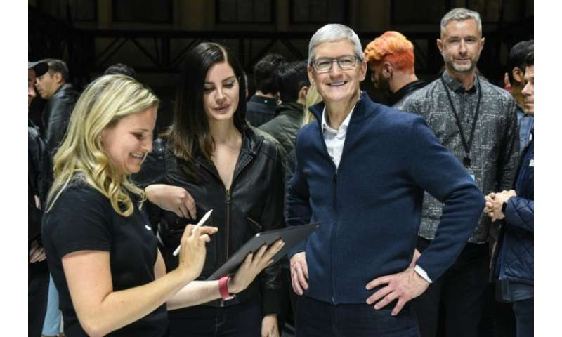 Apple CEO Tim Cook is seen during a launch event October 30 for a new iPad and Macbook Air