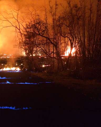 Lava from Hawaii volcano enters ocean from 3 flows