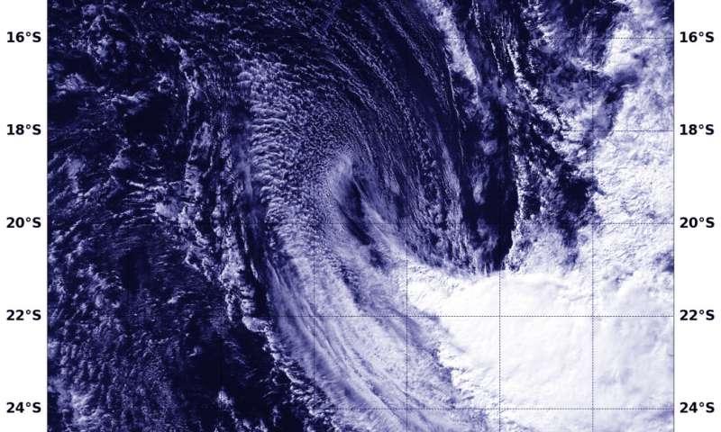 NASA finds Tropical Cyclone Flamboyan in a southeastern stretch