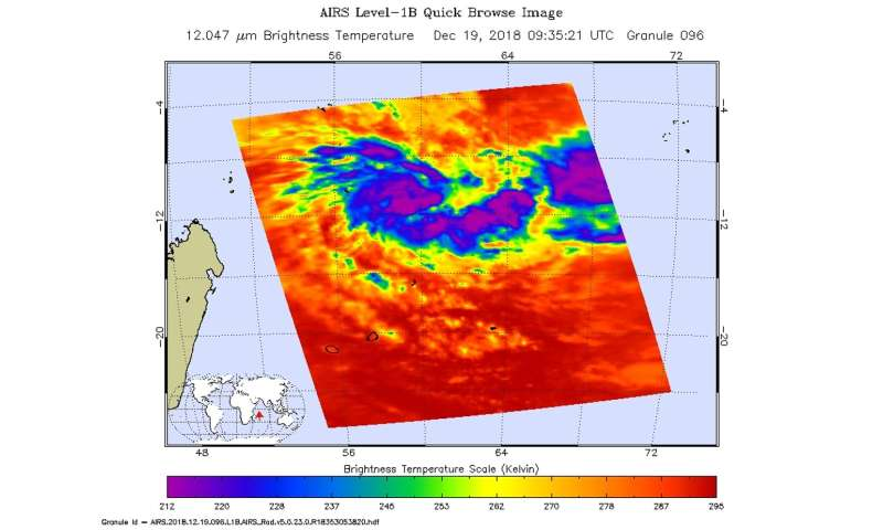 NASA analyzes newly formed Tropical Cyclone Cilidaa