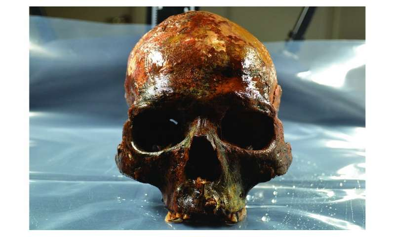 8000-year old underwater burial site reveals human skulls mounted on poles