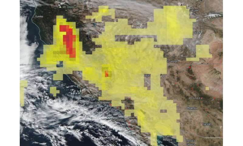 California fires smoke spews aerosols into an already saturated sky