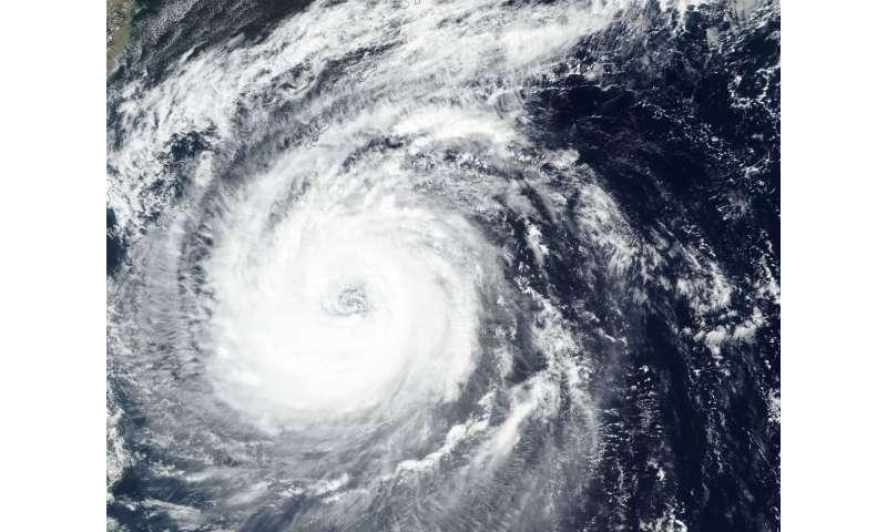 NASA-NOAA satellite looks into Typhoon Trami's ragged eye