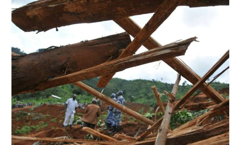 A 2012 landslide in the foothills of Mount Elgon caused by torrential rains killed at least 18 people