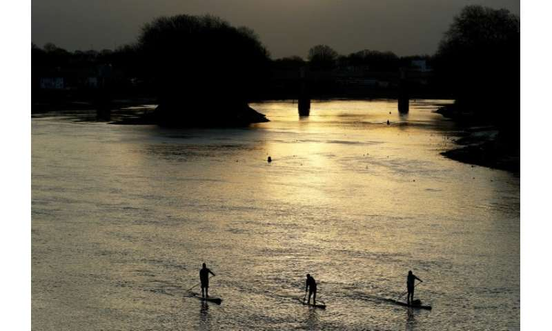 Activists work from sunrise to collect rubbish on the Thames