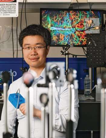 Adapting technology to image blood vessels in skin disease