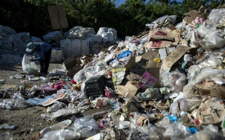 A dumpsite on the Philippine island of Boracay