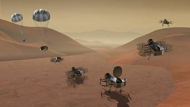 Aerospace engineers developing drone for NASA concept mission to Titan