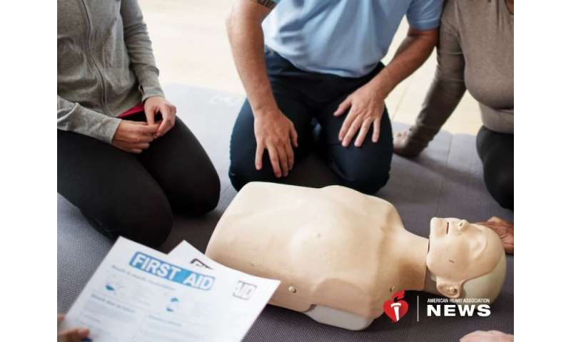 AHA: CPR training at school now required in 38 states