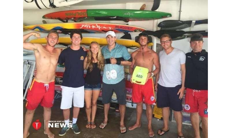 AHA: florida lifeguards helped save man's life after cardiac arrest