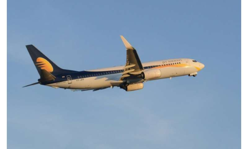 A Jet Airways Boeing 737 pictured in 2015: the airline has announced an order for 75 Boeing 737 MAX planes