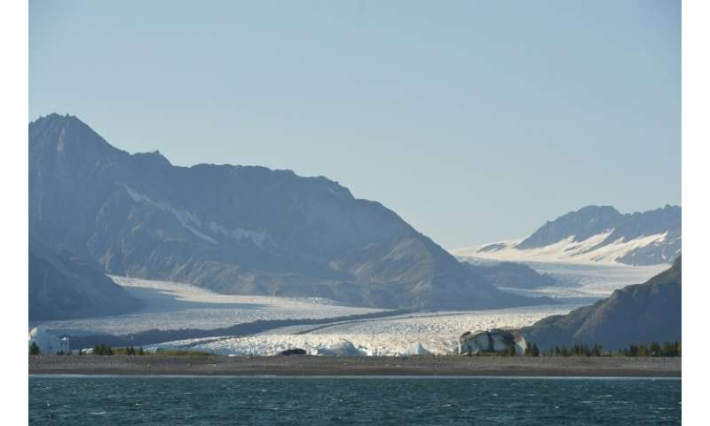 Almost all mountain glaciers in the world are retreating with the thinning ice caused by warming on a global scale