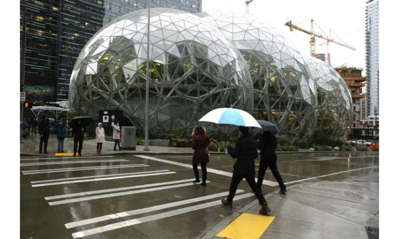 "Amazon's ""The Spheres"" house more than 40,000 plants and include features such as treehouse meeting rooms, a river and"