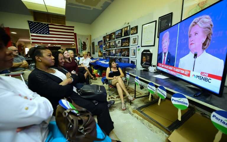 Americans gathered to watch the final presidential debate ahead of 2016 US election that Donald Trump went on to win