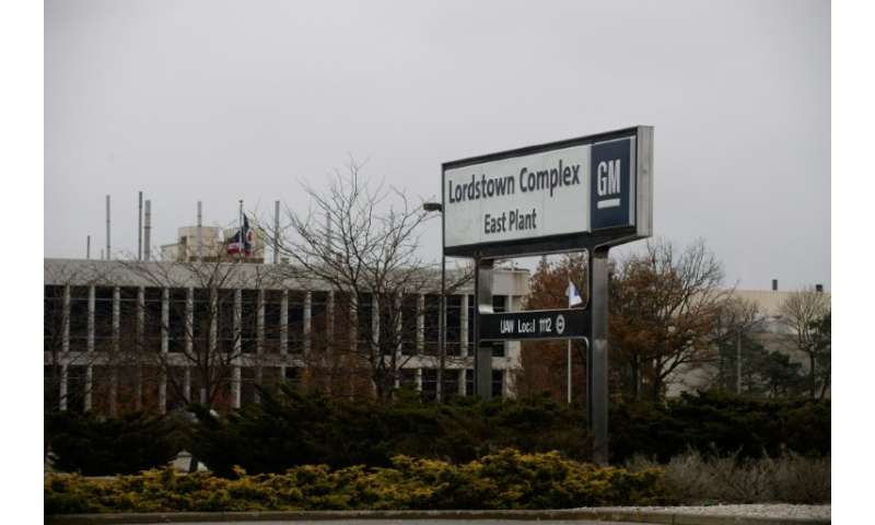 An exterior view of the GM plant in Lordstown, Ohio—one of five North American plants GM is shuttering as part of a cost-cutting
