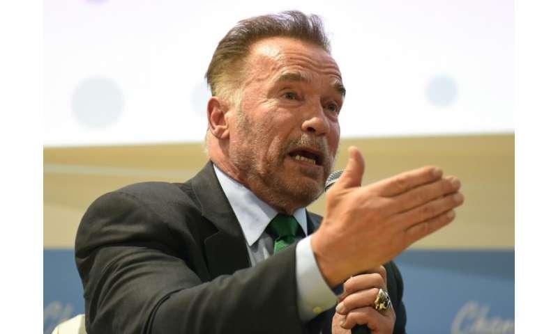 Arnold Schwarzenegger made a surprise address