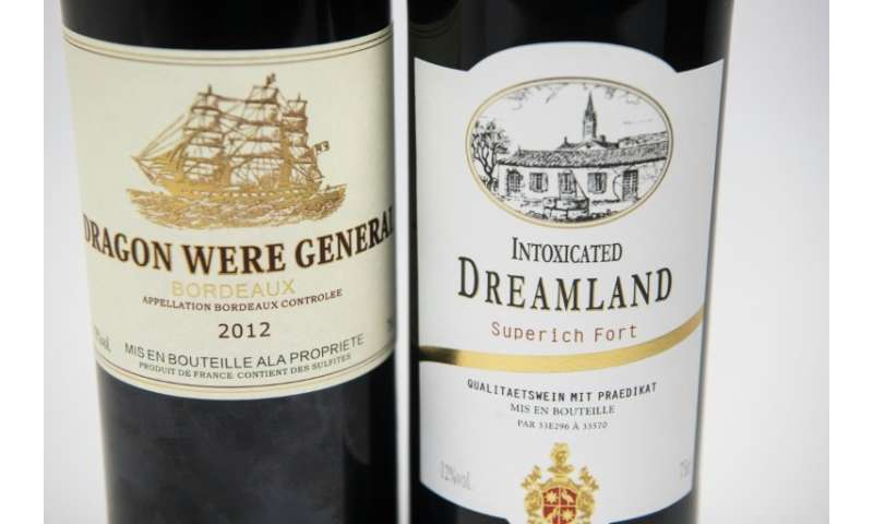A selection of 'Bordeaux' wines with unusual names