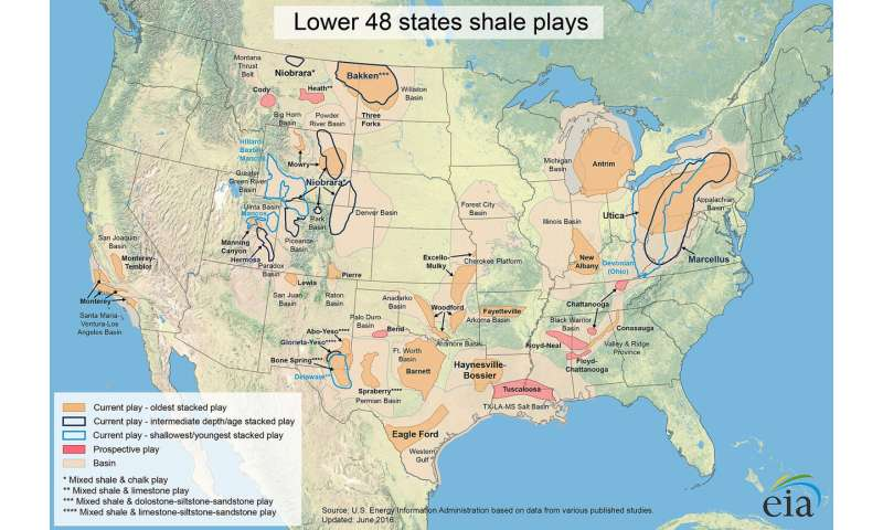 Ash from dinosaur-era volcanoes linked with shale oil, gas Us Dinosaur Map on mosasaur map, jungle book map, hamster map, jurassic period map, the great movie ride map, raptor map, jurassic world map, plesiosaurus map, drumheller alberta map, mass extinction map, the lego movie map, epic map, crocodilian map, snow day map, bat map, the explorers map, jurassic park map, cretaceous period map, iguanodon map,