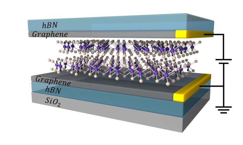 Atomically thin magnetic device could lead to new memory technologies