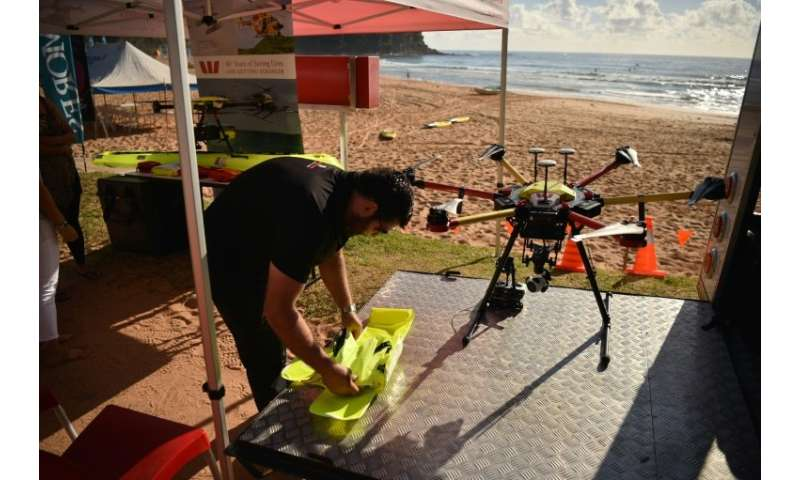Australia is leading the use of the technology in surf lifesaving, with dozens of drones being trialled on beaches around the co